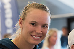 Caroline Wozniacki (Denmark) during an autograph session at the 2017 WTA Ericsson Open in Båstad, Sweden, July 26, 2017. Photo Credit: Katja Boll/EVENTMEDIA.