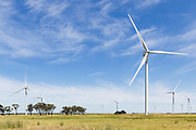 wind turbine from a windfarm in the countryside at MacArthur Wind Farm, Menhamite, Victoria, Australia <br />