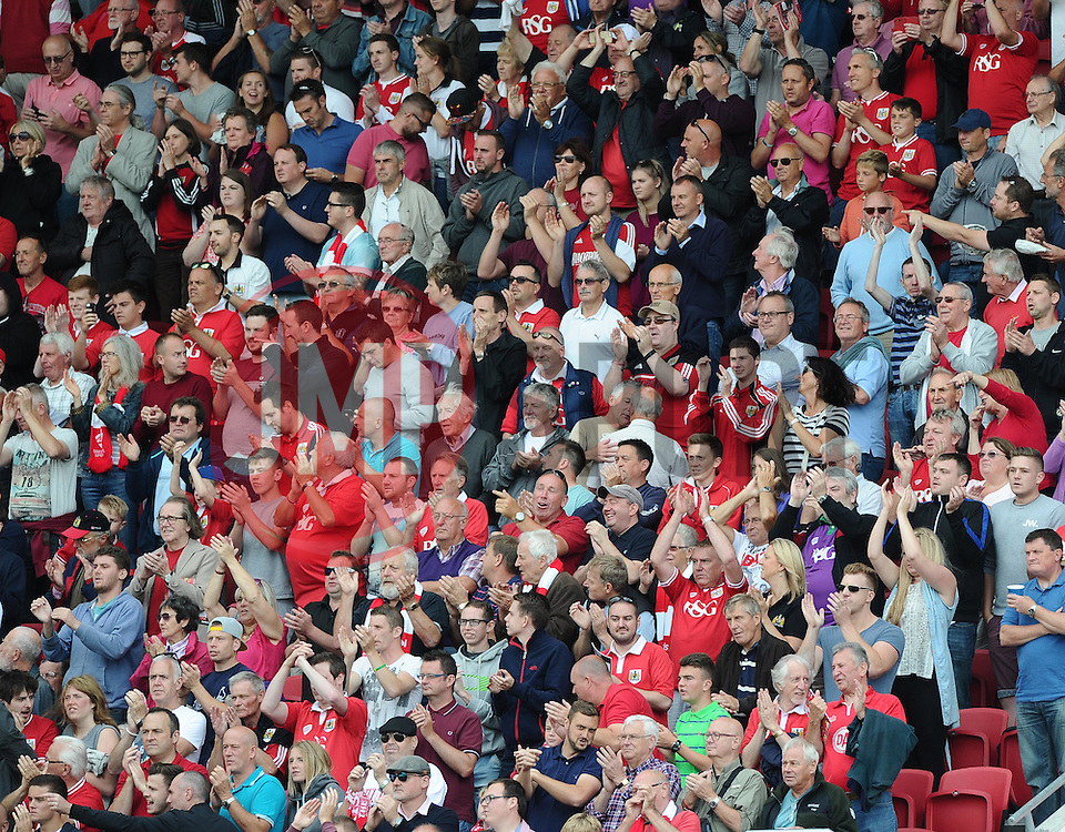 Bristol City fans  - Mandatory byline: Joe Meredith/JMP - 07966386802 - 15/08/2015 - FOOTBALL - Ashton Gate -Bristol,England - Bristol City v Brentford - Sky Bet Championship