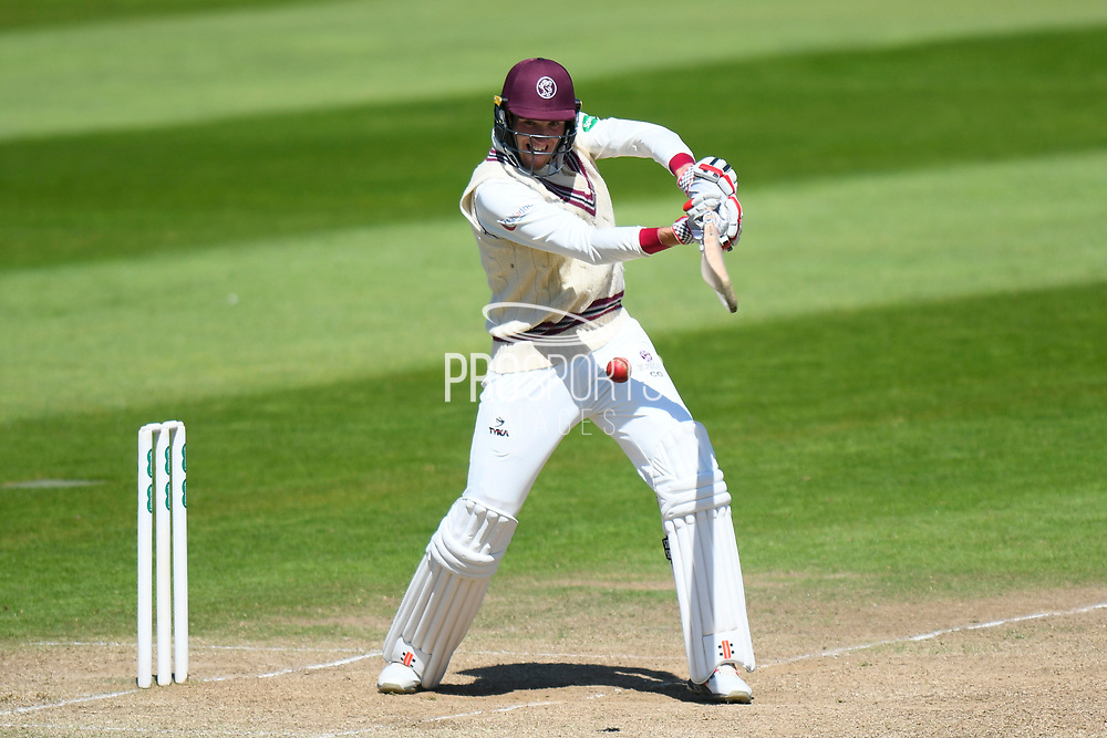Craig Overton of Somerset batting during the Specsavers County Champ Div 1 match between Somerset County Cricket Club and Warwickshire County Cricket Club at the Cooper Associates County Ground, Taunton, United Kingdom on 22 May 2017. Photo by Graham Hunt.