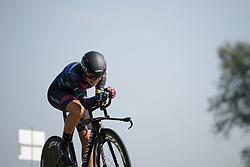 Elena Cecchini at Boels Rental Ladies Tour Prologue a 4.3 km individual time trial in Wageningen, Netherlands on August 29, 2017. (Photo by Sean Robinson/Velofocus)