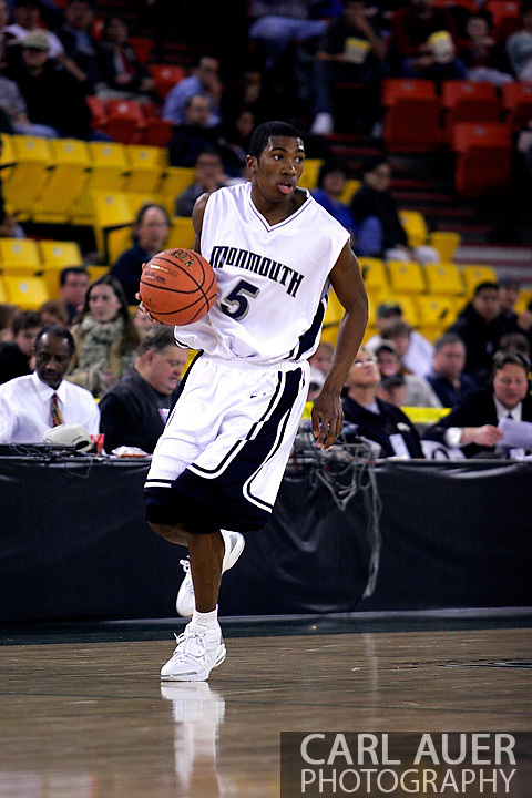 26 November 2005: MU freshman guard, Whitney Coleman (5), in the Monmouth University 54-62 loss to Oral Roberts University at the Great Alaska Shootout in Anchorage, Alaska