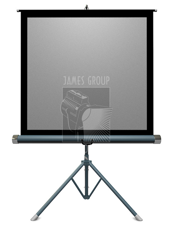 35mm portable slide projector screen on a white background