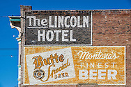Butte, Montana, Antique mural, Montana and Park Streets, uptown