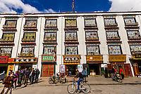 Back streets of Old Lhasa, Tibet (Xizang), China.