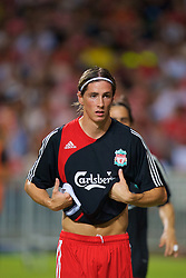 Hong Kong, China - Friday, July 27, 2007: Liverpool's Fernando Torres warms-up before the final of the Barclays Asia Trophy at the Hong Kong Stadium. (Photo by David Rawcliffe/Propaganda)