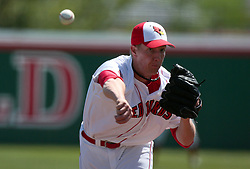 18 April 2010: Ryan Camp.  Southern Illinois Salukis and the Illinois State Redbirds face off on Duffy Bass Field on the campus of Illinois State University in Normal Illinois.