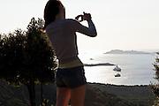 Sardegna, Italy. Gallura, vista dell'insenatura di Porto Cervo.