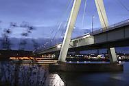 DEU, Germany, Cologne, the Severins bridge across the river Rhine.....DEU, Deutschland, Koeln, die Severinsbruecke ueber den Rhein...