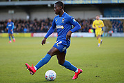 AFC Wimbledon defender Paul Osew (37) dribbling during the EFL Sky Bet League 1 match between AFC Wimbledon and Fleetwood Town at the Cherry Red Records Stadium, Kingston, England on 8 February 2020.