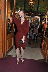 EVA HERZIGOVA attends the premier of 2012 Cirque du Soleil's Totem at the Royal Albert Hall, London on 5th January 2012,