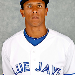 March 2, 2012; Dunedin, FL, USA; Toronto Blue Jays center fielder Anthony Gose (43) poses for a portrait during photo day at Florida Auto Exchange Stadium.  Mandatory Credit: Derick E. Hingle-US PRESSWIRE
