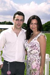 MR ED DRIVER and his sister actress MINNIE DRIVER, at a polo match in Berkshire on 30th July 2000.OGN 39