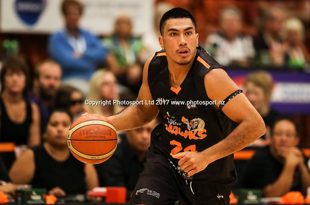 Hawks Ana Haku. Hawkes Bay Hawks v Canterbury Rams, NBL basketball, PG Arena, Napier, New Zealand. Sunday, 19 March 2017. Copyright photo: John Cowpland / www.photosport.nz