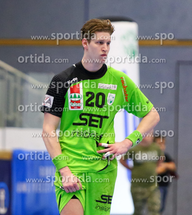 27.03.2015, BSFZ Suedstadt, Maria Enzersdorf, AUT, ÖHB Cup, Halbfinale, Bregenz Handball vs SG INSIGNIS Handball WestWien, im Bild Sebastian Frimmel (WestWien)// during the ÖHB Cup semifinal Match between Bregenz Handball and SG INSIGNIS Handball WestWien at the BSFZ Suedstadt, Maria Enzersdorf, Austria on 2015/03/27, EXPA Pictures © 2015, PhotoCredit: EXPA/ Sebastian Pucher