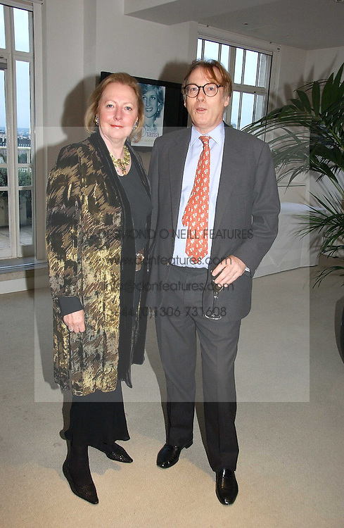 Writer SARAH BRADFORD and her husband the 8th VISCOUNT BANGOR at a party to celebrate the publication of Diana by Sarah Bradford held at 80 The Strand, London on 27th September 2006.<br /><br />NON EXCLUSIVE - WORLD RIGHTS