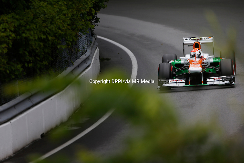 MOTORSPORT - F1 2013 - GRAND PRIX OF CANADA - MONTREAL (CAN) - 07 TO 09/06/2013 - PHOTO FRANCOIS FLAMAND / DPPI - SUTIL ADRIAN (GER) - FORCE INDIA VJM06 - ACTION