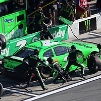 Danica Patrick, driver of the #7 GoDaddy Chevrolet pits during the 60th Annual NASCAR Daytona 500 auto race at Daytona International Speedway on Sunday, February 18, 2018 in Daytona Beach, Florida.  (Alex Menendez via AP)