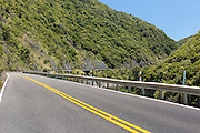 Road bends through the Manawatu Gorge, North Island, New Zealand