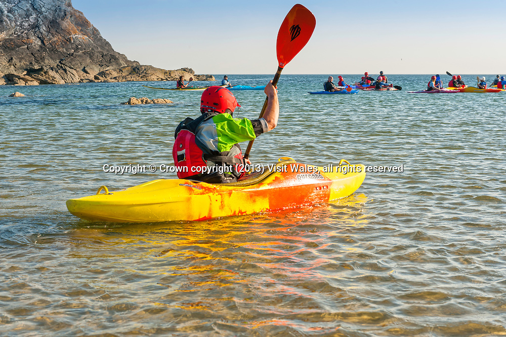 Sea Kayaking<br /> Porth Dafarch<br /> Anglesey<br /> North<br /> Water Sports<br /> Activities and Sports