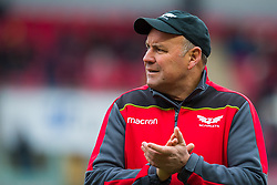 Scarlets' Head Coach Wayne Pivac during the pre match warm up - Mandatory by-line: Craig Thomas/JMP - 09/12/2017 - RUGBY - Parc y Scarlets - Llanelli, Wales - Scarlets v Benetton Rugby - European Rugby Champions Cup