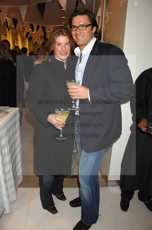 The HON.SELINA TOLLEMACHE and ANDREW WESSELS at a party to launch jeweller Boodles new store at 178 New Bond Street, London W1 on 26th September 2007.<br />