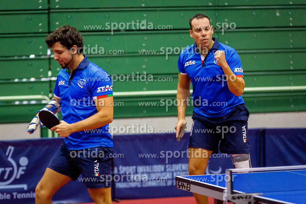ITALY (Samuel DE CHIARA, Mohamed Amine KALEM) during day 6 of 15th EPINT tournament - European Table Tennis Championships for the Disabled 2017, at Arena Tri Lilije, Lasko, Slovenia, on October 3, 2017. Photo by Ziga Zupan / Sportida