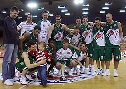 Union Olimpija - Best team  at Pre-season basketball tournament, on September 28, 2008, in Arena Tivoli in Ljubljana. Match was won by Union Olimpija 83:81. (Photo by Vid Ponikvar / Sportal Images)