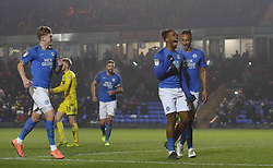 Ivan Toney of Peterborough United celebrates scoring his second goal of the game against Wycombe Wanderers - Mandatory by-line: Joe Dent/JMP - 21/01/2020 - FOOTBALL - Weston Homes Stadium - Peterborough, England - Peterborough United v Wycombe Wanderers - Sky Bet League One