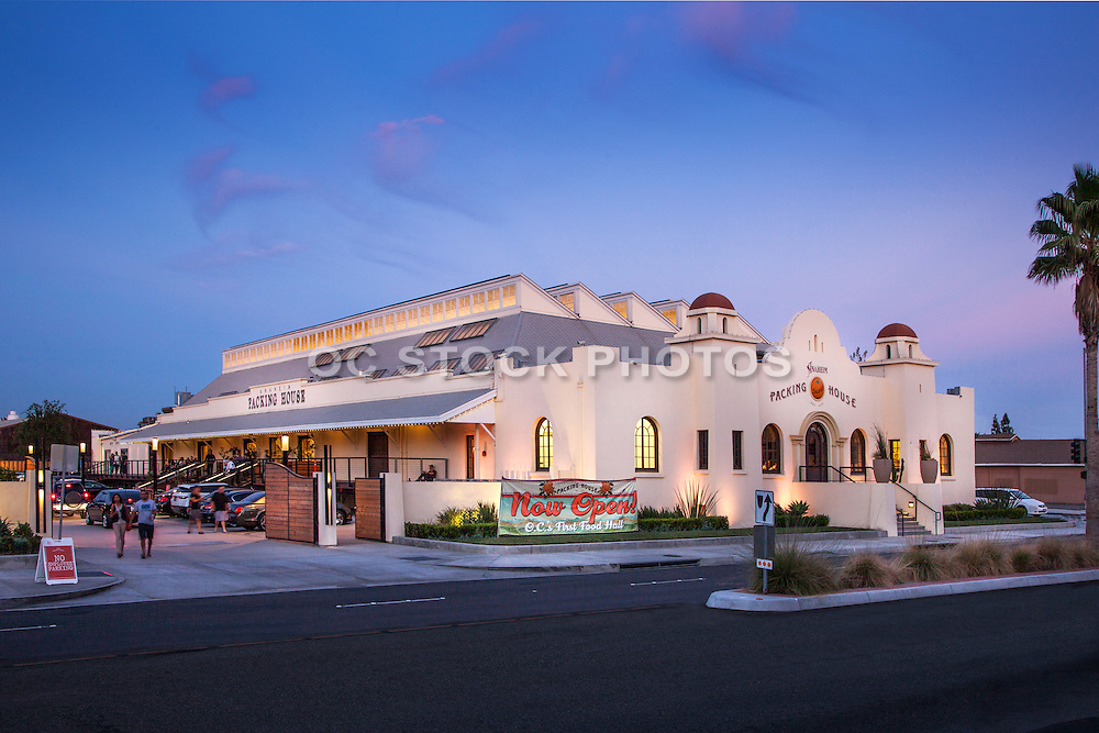 Anaheim Citrus Packing House at Dusk