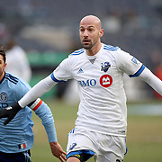 NEW YORK, NEW YORK - March 18:  Laurent Ciman #23 of Montreal Impact in action during the New York City FC Vs Montreal Impact regular season MLS game at Yankee Stadium on March 18, 2017 in New York City. (Photo by Tim Clayton/Corbis via Getty Images)