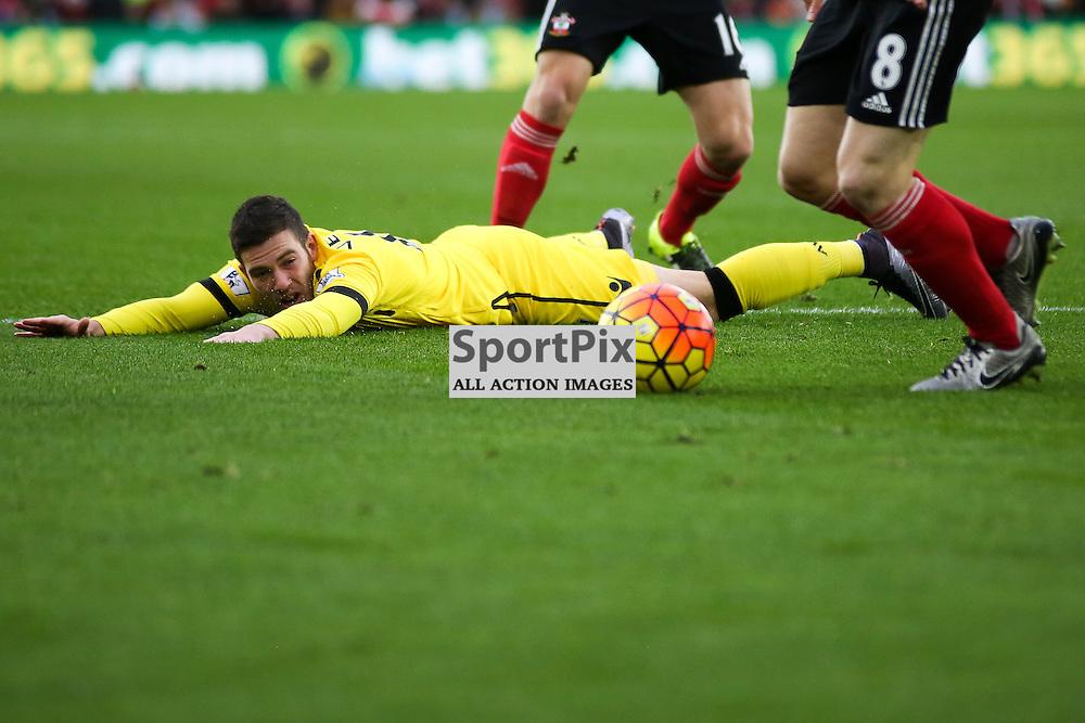 Jordan Veretout During Southampton vs Aston Villa on Saturday the 5th December 2015.