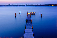 Pier, Noyac Bay, Peconic River, North Haven,  Sag Harbor, NY