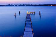 Pier, Noyac Bay, Peconic River, North Haven,  Sag Harbor, NY