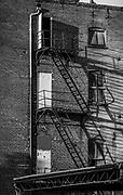 Abandoned tobacco buildings near the Dan River in Danville, Virginia.