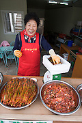 Dadohae Marine National Park. Dolsan-do. Making of the famous local variety of kimchi.
