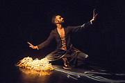 Aakash Odedra loves telling stories. In this programme in the Lillian Baylis Studio at Sadler's Wells Theatre London, he does so with two contrasting solos in an evening of theatre and Kathak dance. These pictures feature Echoes, choregraphed by Kathak icon Aditi Mangaldas.  Performances 9th & 10th March 2017.