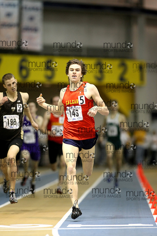 Windsor, Ontario ---14/03/09--- Trent Ratzlaff of  the University of Calgary competes in the 600m Final at the CIS track and field championships in Windsor, Ontario, March 14, 2009..Sean Burges Mundo Sport Images