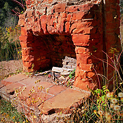 Ruins of a fireplace along the West Fork Trail - Oak Creek Canyon, AZ