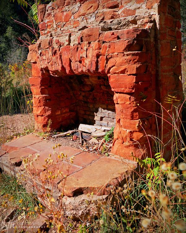 Ruins of a fireplace along the West Fork Trail - Oak Creek Canyon, AZ