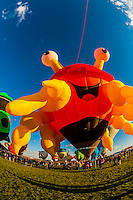 "Special shape balloon called ""Crazy Crab"", Albuquerque International Balloon Fiesta, Albuquerque, New Mexico USA."