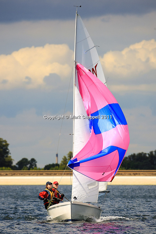 Mixed class sailing competition at Datchet Water. Sunday 14  August  2011.  London, UK.<br /> <br /> Photo Credit: Mark Chappell<br /> <br /> &copy; Mark Chappell 2011. <br /> All rights reserved, see instructions.