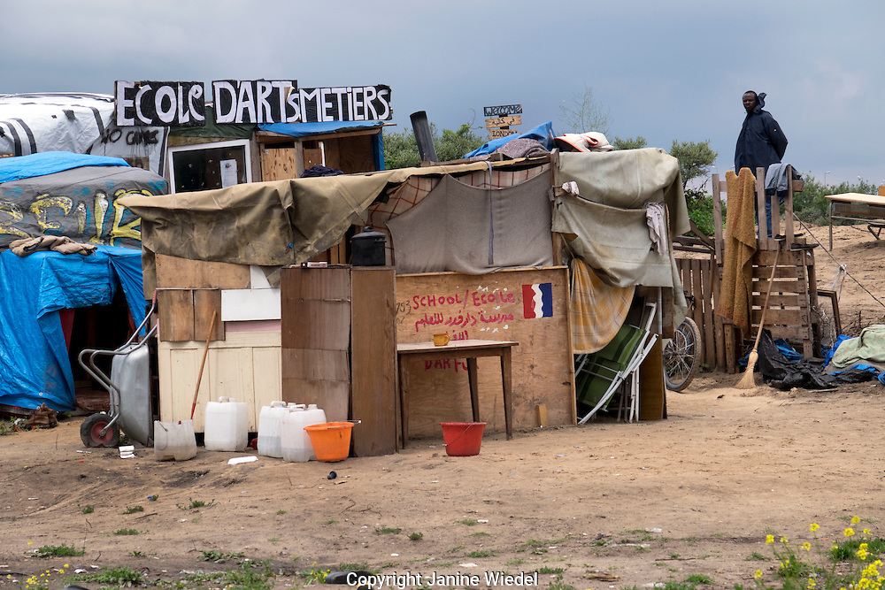 Ecole D'Art Metiers in The Calais Jungle Refugee and Migrant Camp in France