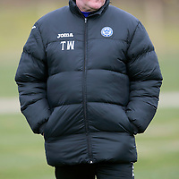St Johnstone Training....14.03.14<br /> Tommy Wright pictured in training this morning ahead of tomorrow's game against Ross County.<br /> Picture by Graeme Hart.<br /> Copyright Perthshire Picture Agency<br /> Tel: 01738 623350  Mobile: 07990 594431