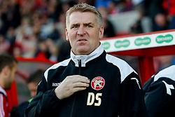 Walsall Manager Dean Smith looks on - Photo mandatory by-line: Rogan Thomson/JMP - 07966 386802 - 21/04/2015 - SPORT - FOOTBALL - Swindon, England - The County Ground - Swindon Town v Walsall - Sky Bet League 1.