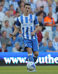 Lewis Dunk of Brighton & Hove Albion - Mandatory byline: Paul Terry/JMP - 07966386802 - 07/08/2015 - FOOTBALL - Falmer Stadium -Brighton,England - Brighton v Nottingham Forest - Sky Bet Championship