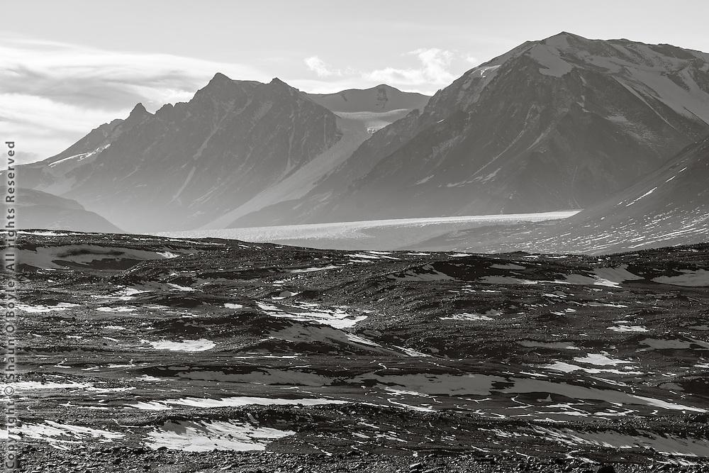 Looking up Taylor Valley at the Canada Glacier