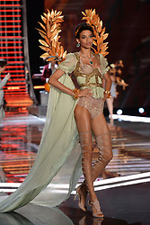 Jourdana Phillips on the catwalk for the Victoria's Secret Fashion Show at the Mercedes-Benz Arena in Shanghai, China