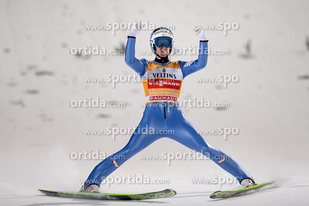 06.01.2015, Paul Ausserleitner Schanze, Bischofshofen, AUT, FIS Ski Sprung Weltcup, 63. Vierschanzentournee, Finale, im Bild Michael Hayboeck (AUT) // Michael Hayboeck of Austria reacts after his first competition Jump of 63rd Four Hills Tournament of FIS Ski Jumping World Cup at the Paul Ausserleitner Schanze, Bischofshofen, Austria on 2015/01/06. EXPA Pictures © 2015, PhotoCredit: EXPA/ Johann Groder