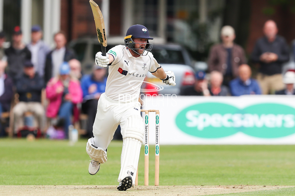 Adam Lyth of Yorkshire screams NO! during the Specsavers County Champ Div 1 match between Yorkshire County Cricket Club and Warwickshire County Cricket Club at York Cricket Club, York, United Kingdom on 17 June 2019.